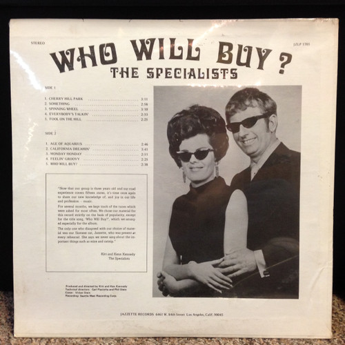 Specialists Who Will Buy Private Press Sealed Lounge LP