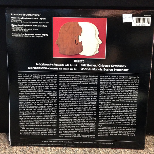 Tchaikovsky-Mendelssohn, APR1-4567 LP