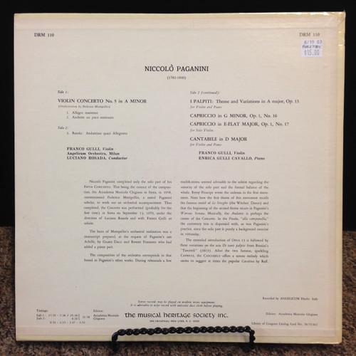 Paganini, Violin Concerto No5 LP
