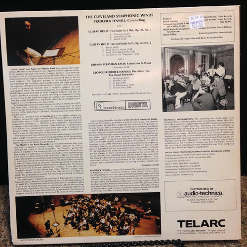 Bach-Handel, Cleveland Sym Winds, Audiophile LP