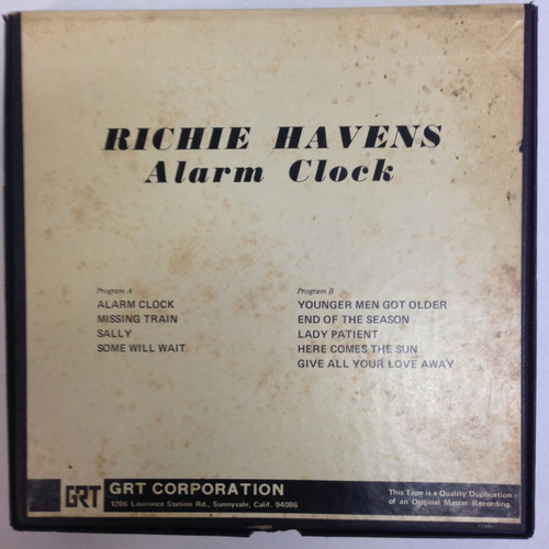 Richie Havens Alarm Clock Reel to Reel Tape