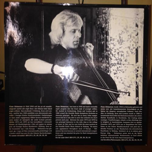 Bach Suite Suite 2 for Solo Cello Frans Helmerson LP