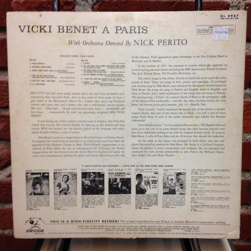 Vicki Benet A Paris Mono Promo LP