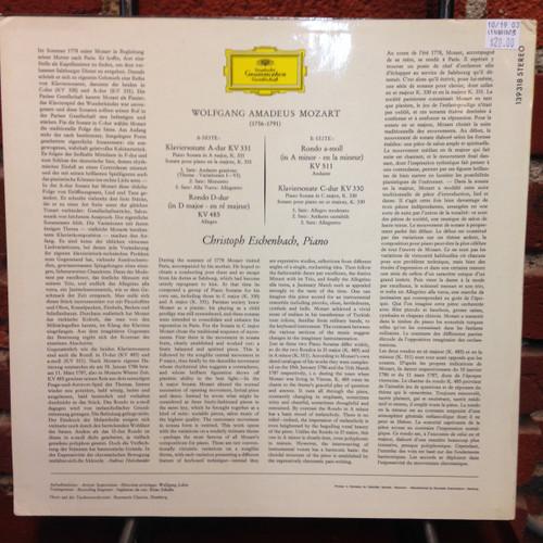 Mozart, Eschenbach Piano LP