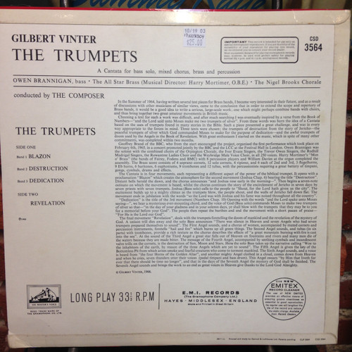 Vinter, The Trumpets CSD 3564, LP