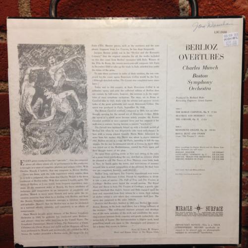 Berlioz Overtures Boston Symphony Orchestra LSC-2438 LP