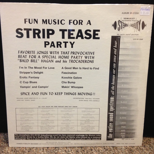 Bill Hagan Music For A Strip Tease Party Cheesecake Sealed LP