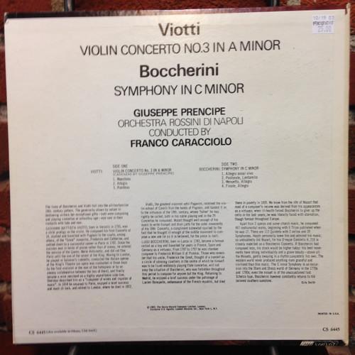 Viotti Violin Concerto No.3 Boccherini Symphony in Cmin LP