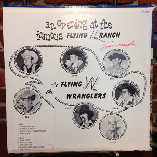 Flying W Wranglers This Is Flying W Country Signed LP