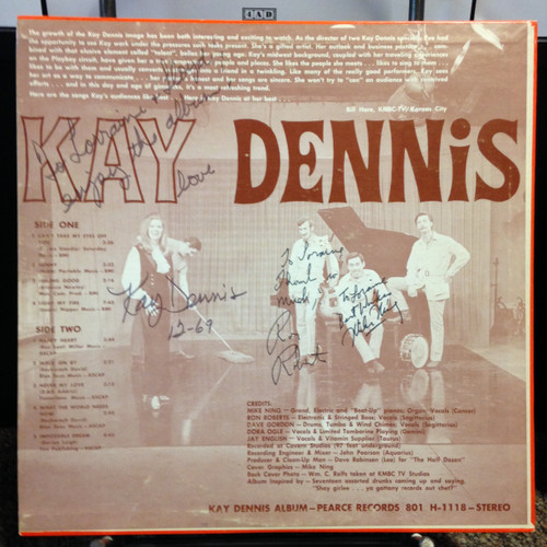 Kay Dennis Private Press Jazz Funk KC Signed LP