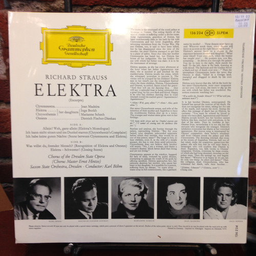 Richard Strauss-Elektra excerpts LP