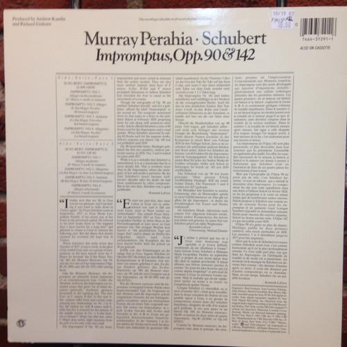 Schubert Perahia Impromptus Opp.90&142 LP