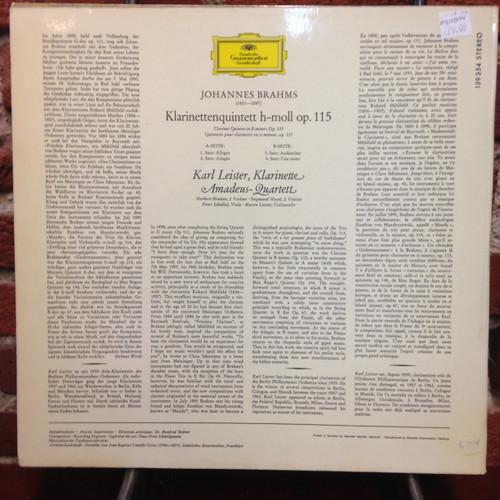 Brahms-Klarinettenquintett H-Moll LP