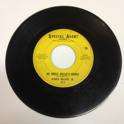 Homer Walker Jr Move Back Baby B/W Do Uncle Willie's Dance Special Agent 45