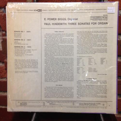 Hindemith 3 Sonatas for Organ Power Biggs   LP