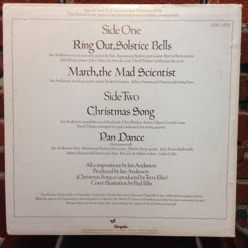 Jethro Tull Ring Out Solstice Bells Special Promo Only Christmas LP