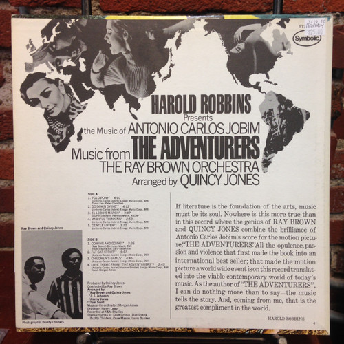 Adventurers Soundtrack Promo Jobim LP