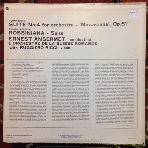 """Tchaikovsky  """"Mozartiana"""" / Rossini-Respighi """"Rossiniana""""  LP"""