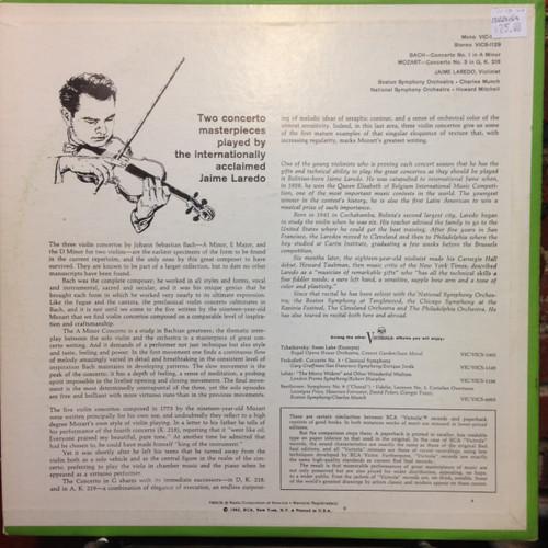 Bach Concerto No. 1 / Mozart Concerto No. 3  Laredo  Signed   LP