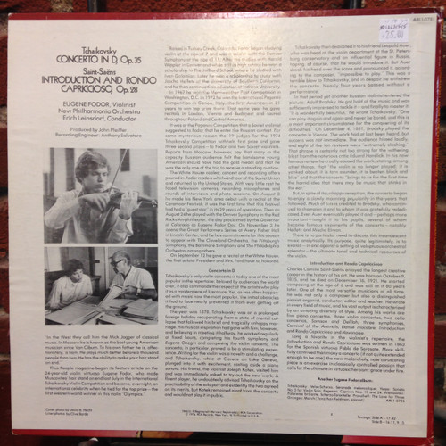 Tchaikovsky Concerto & St. Saens Intro and Rondo Fodor SIgned  LP