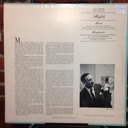Heifetz - Rozsa - Benjamin Violin