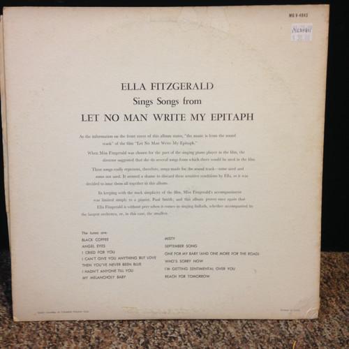 Ella Fitzgerald Let No Man Write My Epitaph MG V 4043 LP