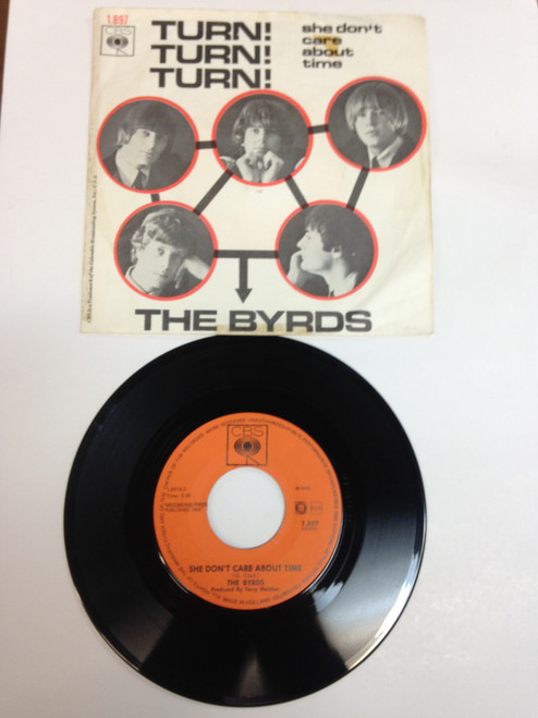 Byrds Turn Turn Turn B/W She Don't Care About Time Dutch PS 7""