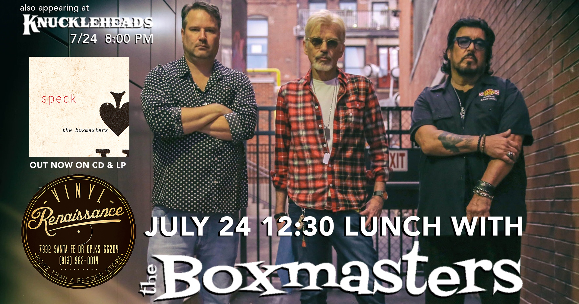 Lunch with The Boxmasters Free Lunch & Signing