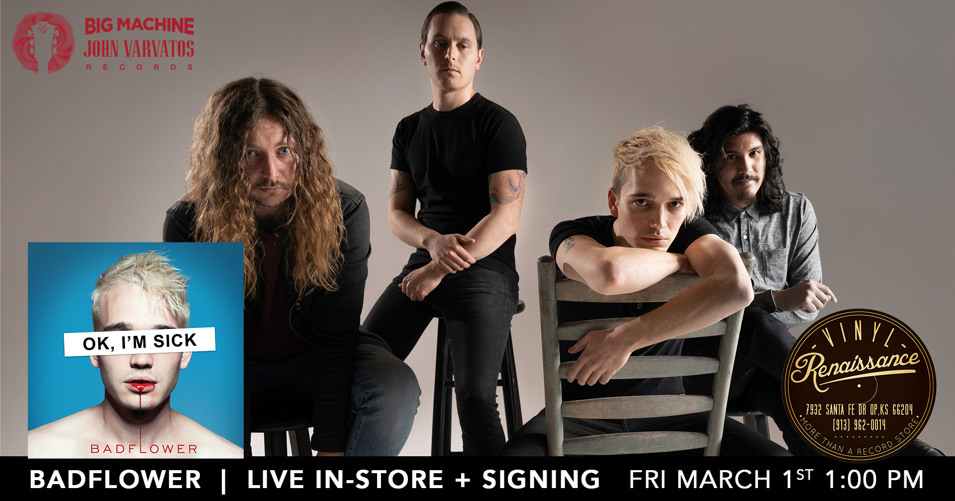 Badflower  Live In-Store + Signing  Friday 3/1/19 1:00PM