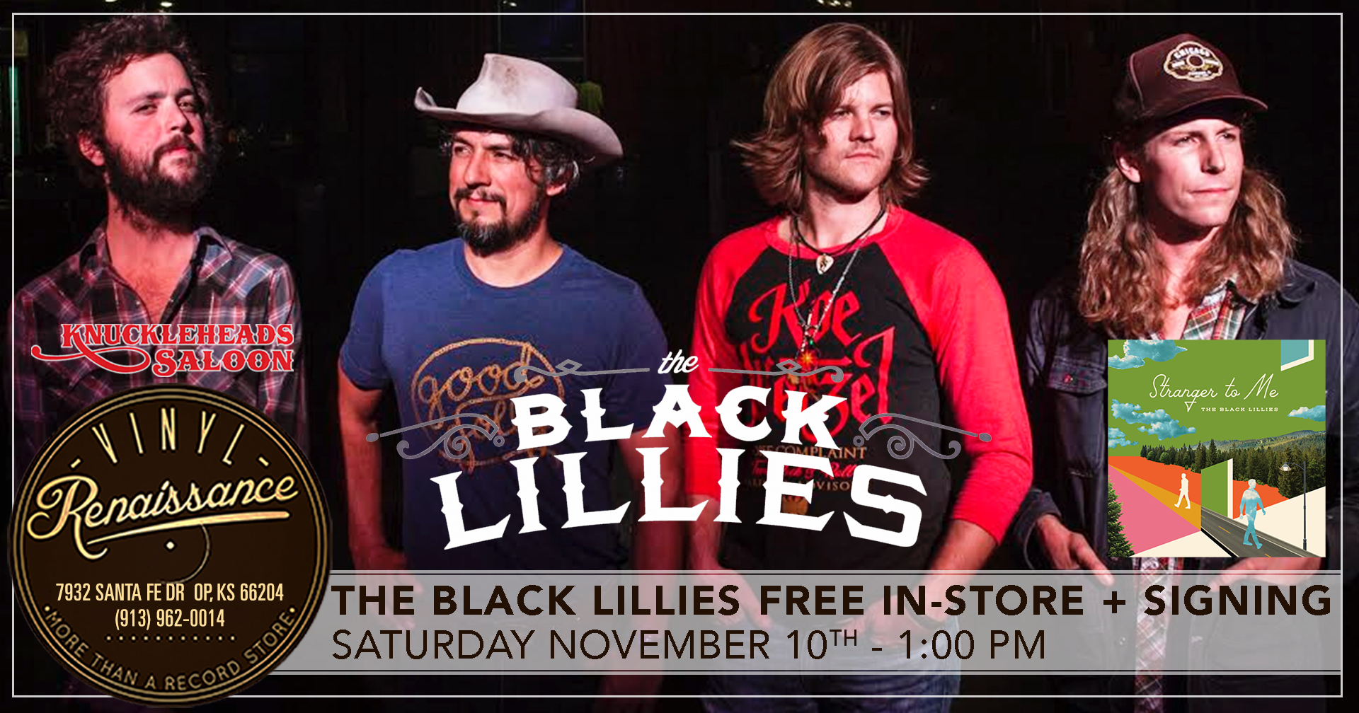 The Black Lillies Free In-Store Performance + Signing
