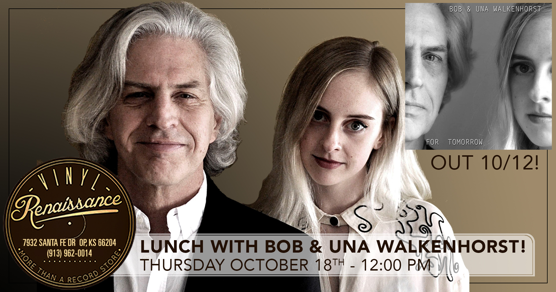 Lunch with Bob & Una Walkenhorst! Live In Store