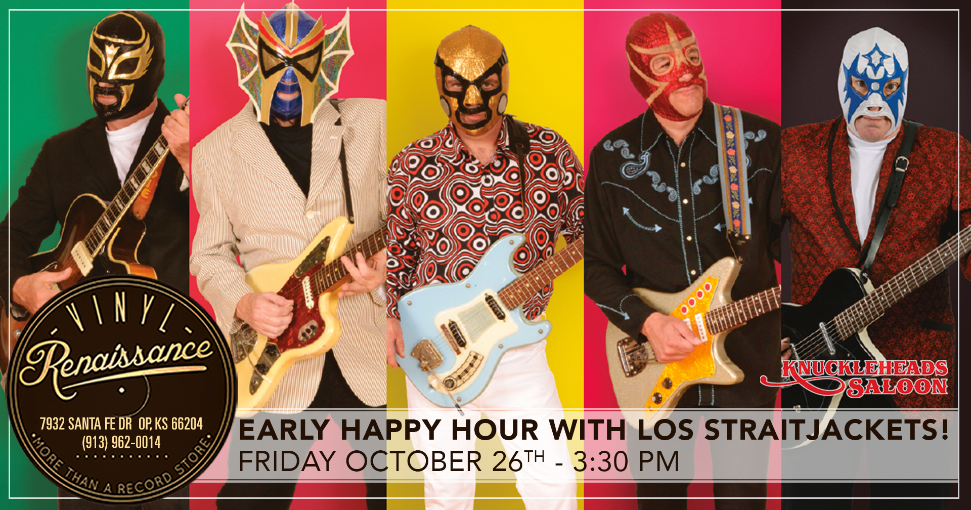 Early Happy Hour with Los Straitjackets!