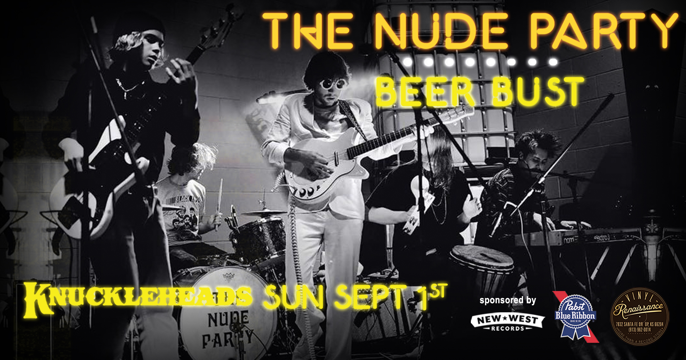 The Nude Party Beer Bust - Knuckleheads Sunday September 1st 2019
