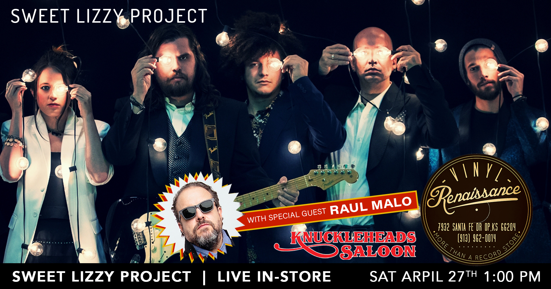 Sweet Lizzy Project with special guest Raul Malo (The Mavericks) + Live In-Store