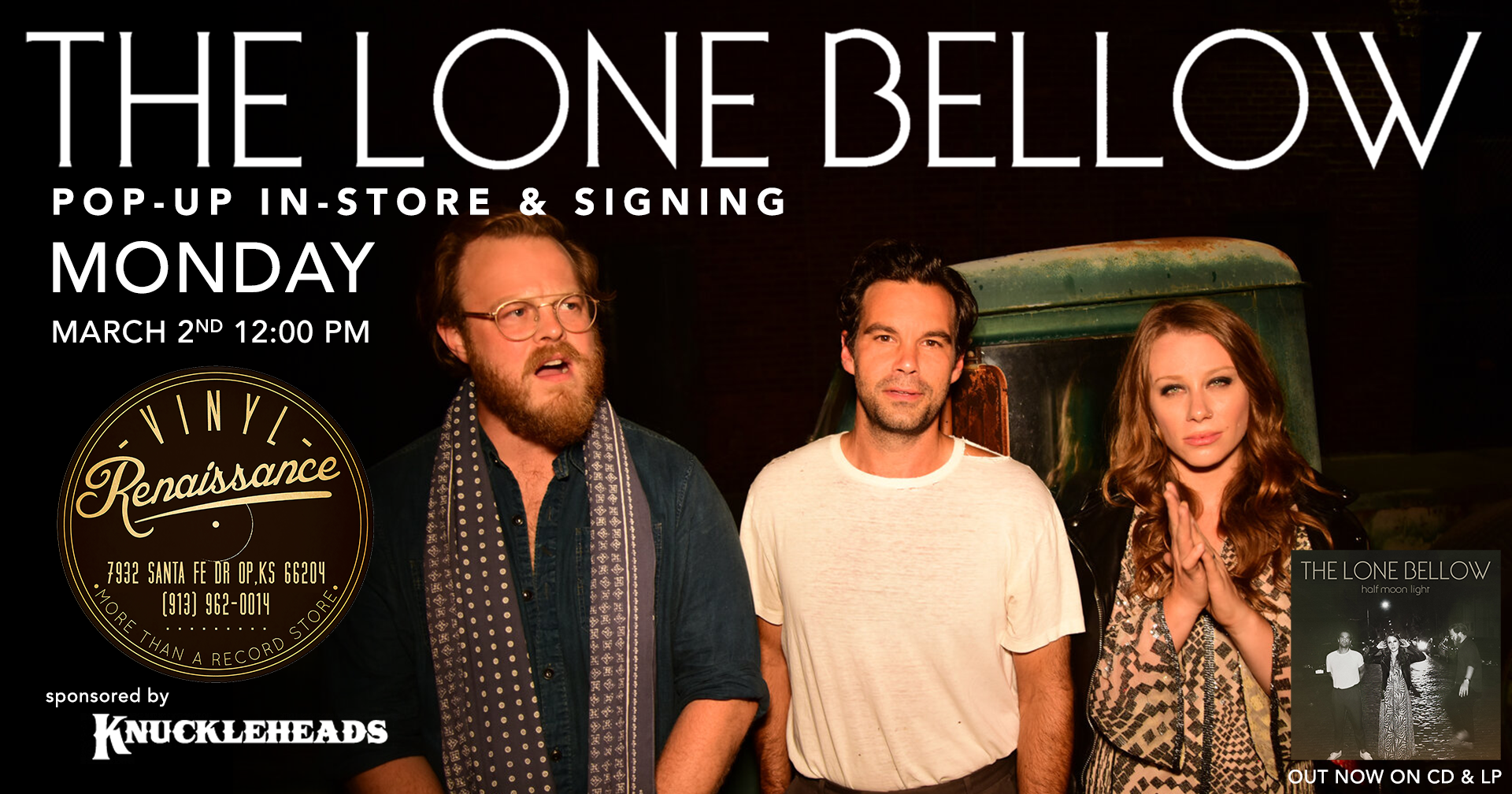 The Lone Bellow Pop-Up In-Store & Signing - Monday March 2nd 12PM