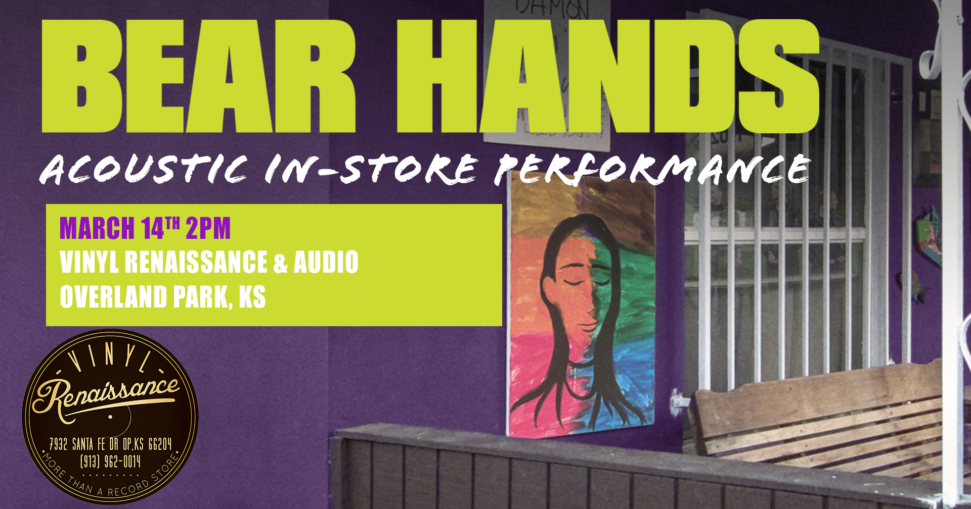 CANCELLED - Bear Hands | Vinyl Renaissance & Audio Acoustic In-Store Performance