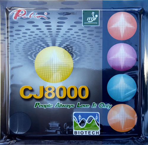 Palio CJ8000 Table Tennis Bat Rubbers BIOTECH Long Last Loop/Attack 40-42. Buy a single rubber or a pair.