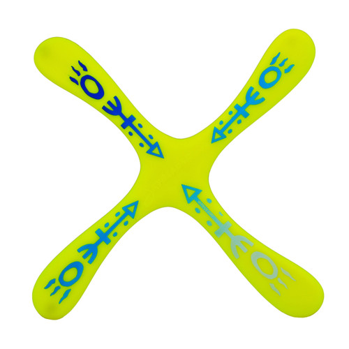 LMI and Fox Boomerangs Skyblader ABS Yellow RIGHT HANDED recreational boomerang