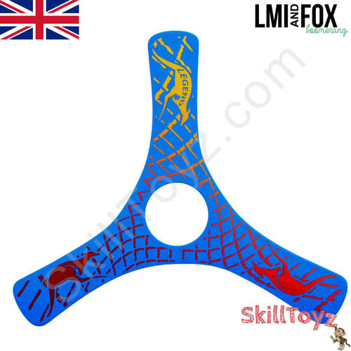 LMI and Fox Boomerangs Spin Racer 2 Float is a lovely beginners boomerang. RIGHT HANDED. Colour: blue. This model floats in water making it ideal for beaches or other waterside locations.