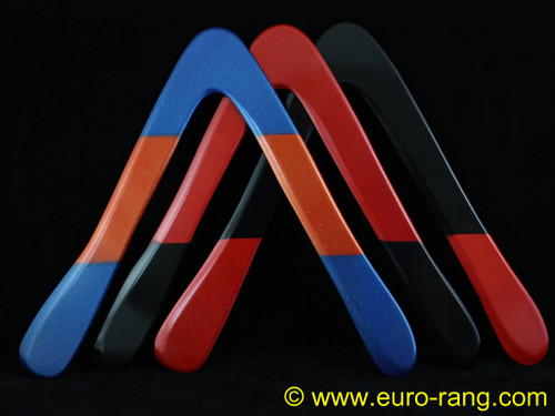 Glover Black Swan Boomerang Phenolic Right Handed (Colour varies)  - we have a variety of designs as shown. Orders picked at random.