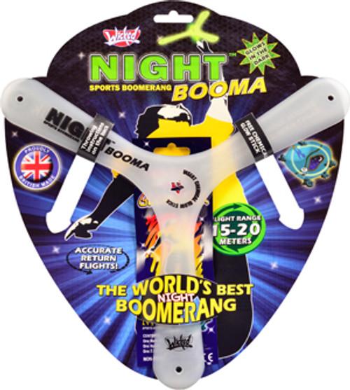 Wicked Night Booma glow in the dark boomerang. Great fun!