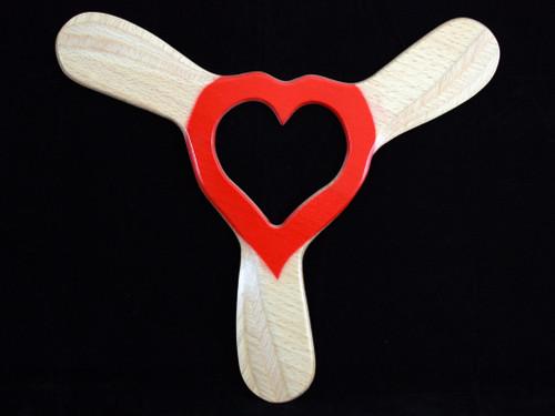 Boomerang Hunter Walentynkowy Right Handed wooden boomerang
