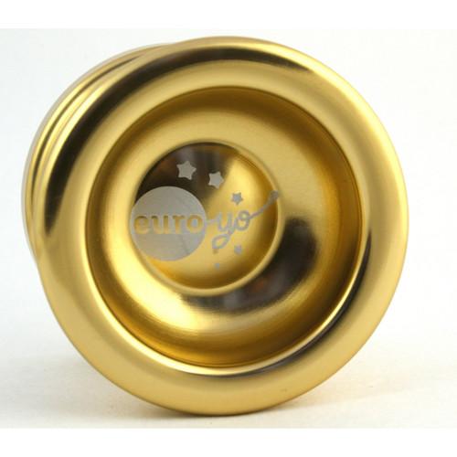 Euro-Yo Spirit advanced trick unresponsive ball bearing aluminum Yo-Yo - gold