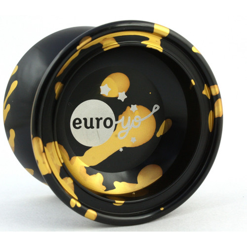Euro-Yo Comet Yo-Yo Black with gold splash