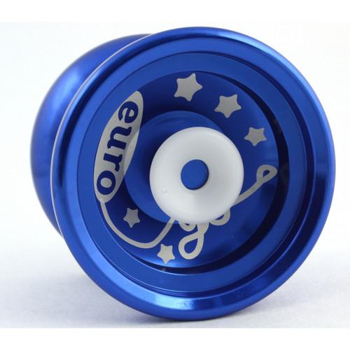 Euro-Yo Elite advanced trick hubstacked unresponsive aluminum Yo-Yo - Blue