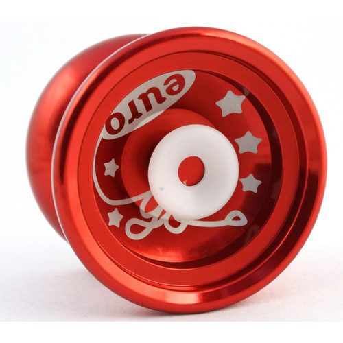 Euro-Yo Elite advanced trick hubstacked unresponsive aluminum Yo-Yo - red