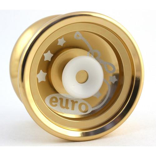 Euro-Yo Elite advanced trick hubstacked unresponsive aluminum Yo-Yo - gold