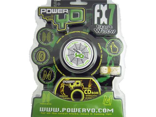 PowerYo FX7 Black Widow Beginners YoYo - Black
