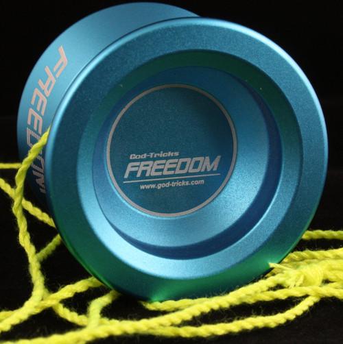 God-Tricks Freedom Yo-Yo Blue advanced unresponsive ball bearing aluminium yoyo
