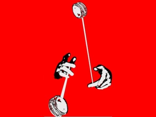 Looping Hands Yo-Yo T-Shirt Red Xtra Large